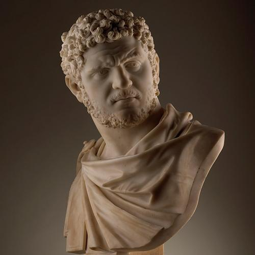 Bust of Emperor Caracalla by Joseph Claus (1718-1788)