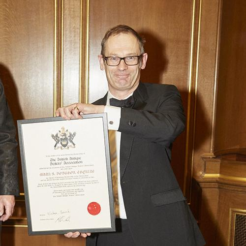 Mark Dodgson recieves his Lifetime Membership Award
