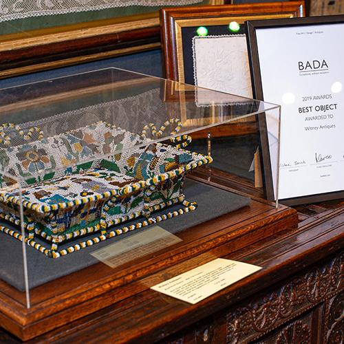 BADA 2019 Best Object Award Winner Witney Antiques Mid 17th Century Beadwork Basket