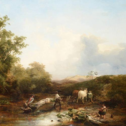clearing the wood a bright autumnal day sidney richard percy sutcliffe galleries the northern antiques fair