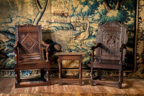 Two wainscot chairs