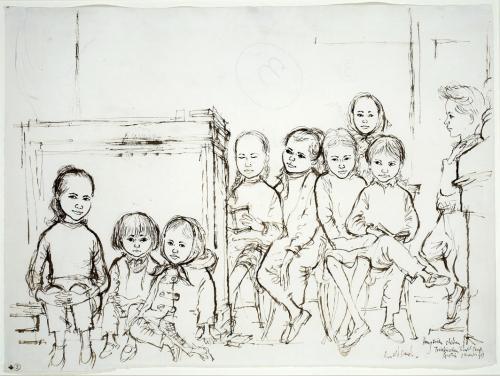 Hungarian children, Traiskirschen Transit Camp, Austria