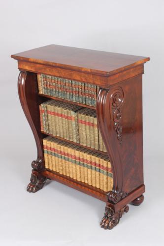 George IV period mahogany small bookcase