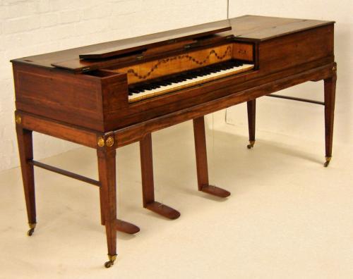 Garcka Square Piano Mahogany with Inlaid Case c1792