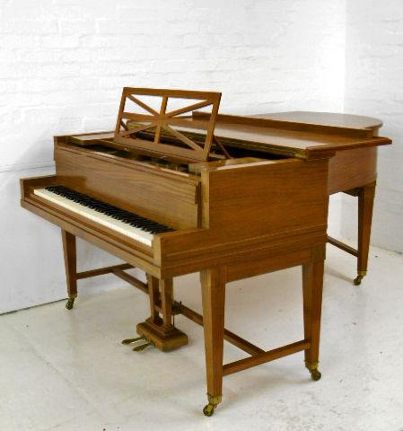 """C. Bechstein Model """"B"""" (6' 8"""") Grand Piano in satinwood case secondhand c1913 gate legged"""