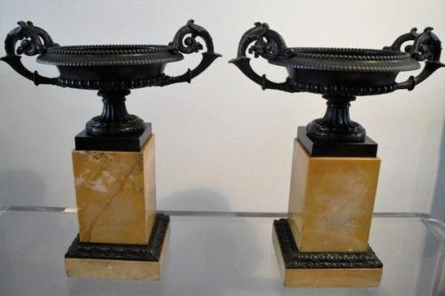 A Pair of French Bronze Tazzas