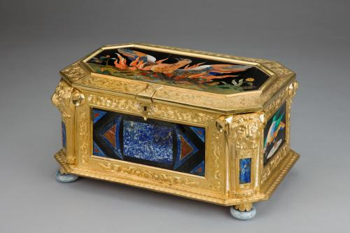 The Wertheimer Phoenix Casket Pietra Dura mounted ormolu casket By Samson Wertheimer (1811-92)