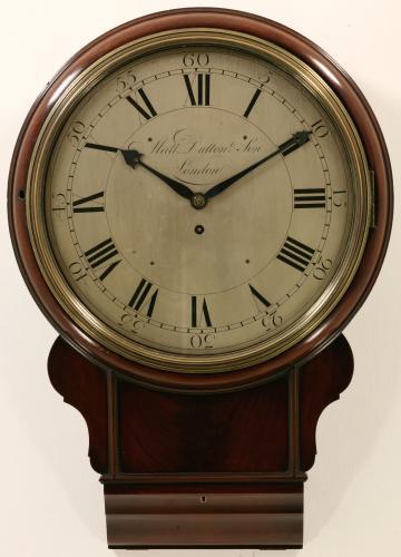 Matthew Dutton English drop dial wall clock