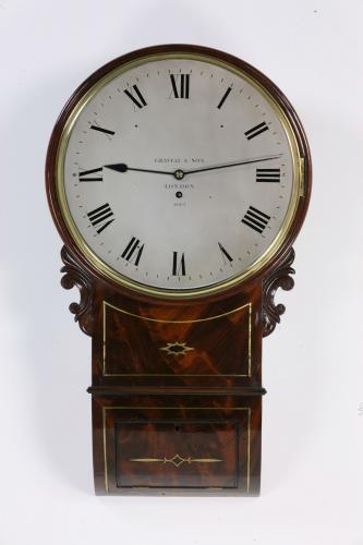 Gravell & Son English drop dial clock