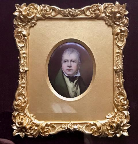 Sir Walter Scott enamel