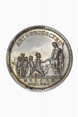 Royal Society of Arts, silver medal 1760 by Thomas Pingo