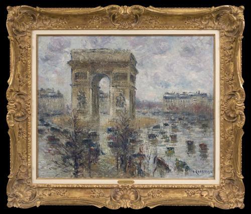La Place de l'Étoile, Temps Pluvieux - Gustave Loiseau (1865 - 1935)