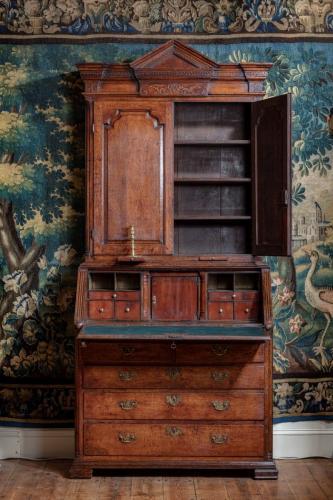 A George II Oak Bureau Bookcase
