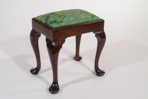 Small George II Upholstered Top Stool
