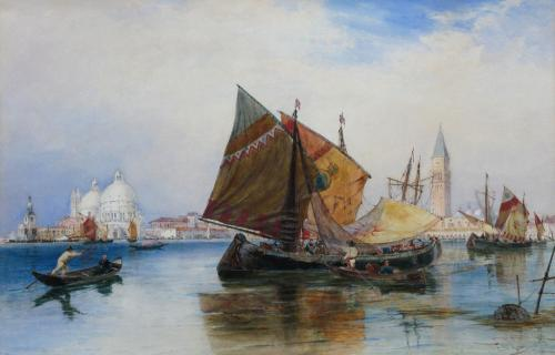 "Thomas Bush Hardy RBA 1842-1897 ""Deojozzi off the Ducal Palace"""