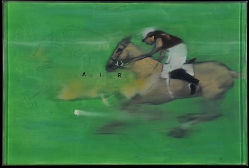 Douglas Swan (1930-2000) Air polo 1974 oil on canvas