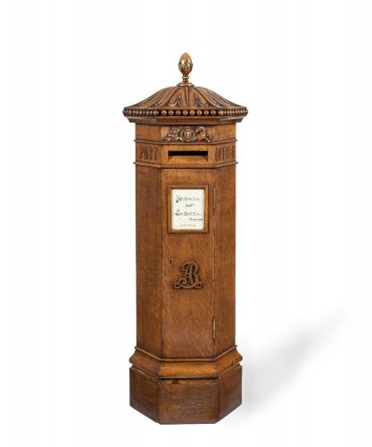 A Highly Impressive Oak Country House Post Box