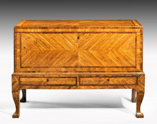 6413 George II Olive Wood Chest on Stand