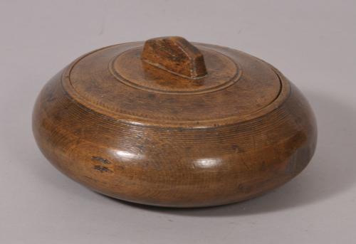 S/2321 Antique Treen 19th Century Birch Herb Bowl