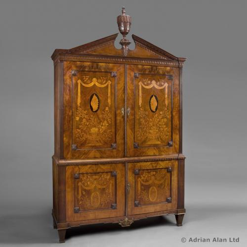 Dutch Mahogany Armoire - © Adrian Alan Ltd, Fine Arts and Antiques