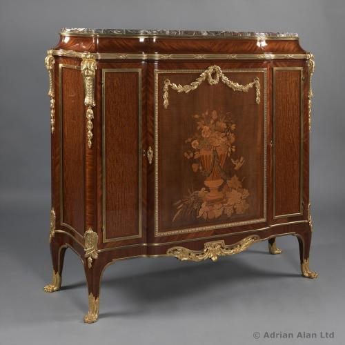 Side Cabinet With Marble Top - © Adrian Alan Ltd, Fine Arts and Antiques