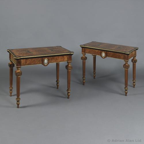 Pair of Card Tables - © Adrian Alan Ltd, Fine Arts and Antiques