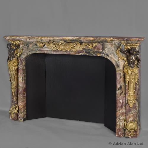 Louis XV Style Marble Fireplace - © Adrian Alan Ltd, Fine Arts and Antiques