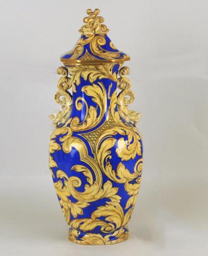 English Ironstone Vase & Cover, Morley Ashworth, Circa 1855-62