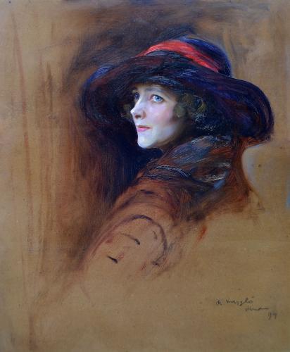 Philip de László 1869-1937 Portrait of Marian Hoffman