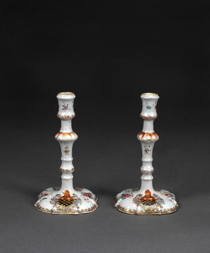 Pair of Candlesticks with Arms attributed to Bonwick