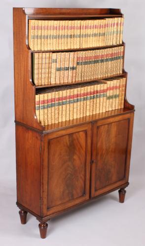 George IV period mahogany bookcase-cabinet