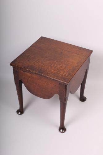Mid 18th century oak close stool