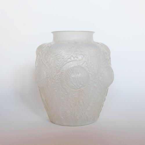 An Art Deco Domremy design vase by Rene Lalique
