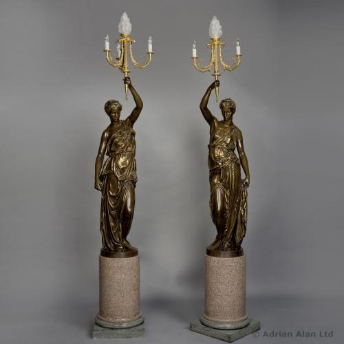 A Pair of Figural Candelabra ©AdrianAlanLtd