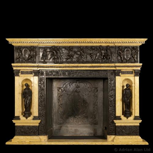 Sienna Marble Fireplace ©AdrianAlanLtd