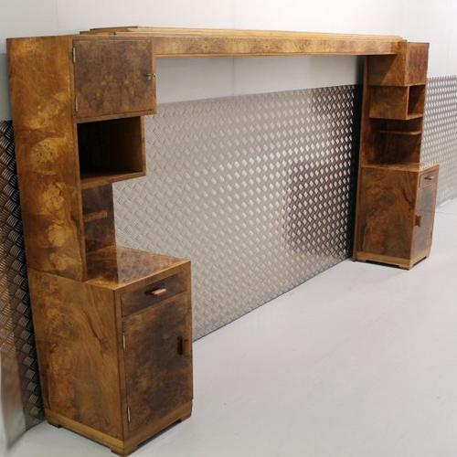 An Art Deco headboard