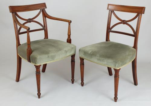Set of 8 George III dining chairs