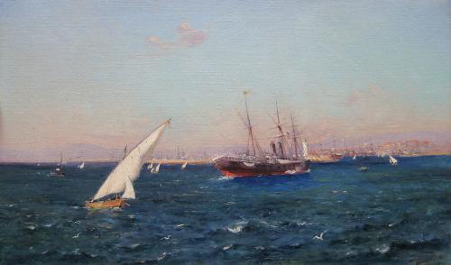 'L'entrée du port de Marseille' by Adolphe Louis Gaussen