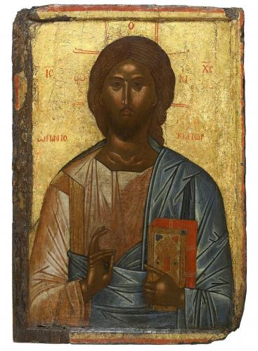 Christ Pantocrator Circle of Theophanes the Cretan with later restoration Temple Gallery