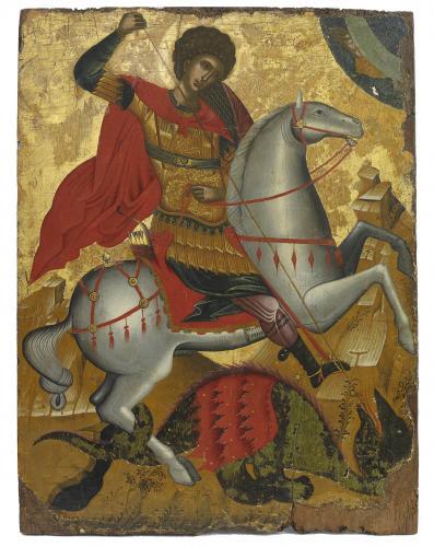 Saint George and the Dragon Cretan Late 15th century