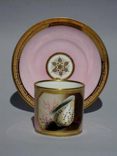 Worcester porcelain can & saucer