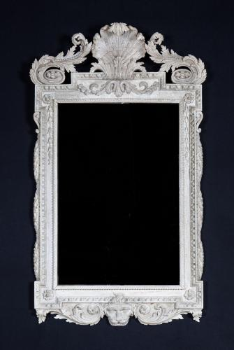 Rare William Kent Period (1684-1748) White Painted Mirror  William Kent  England, circa 1740