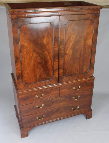 George III mahogany clothes press