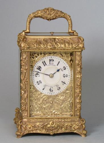Drocourt cast carriage clock