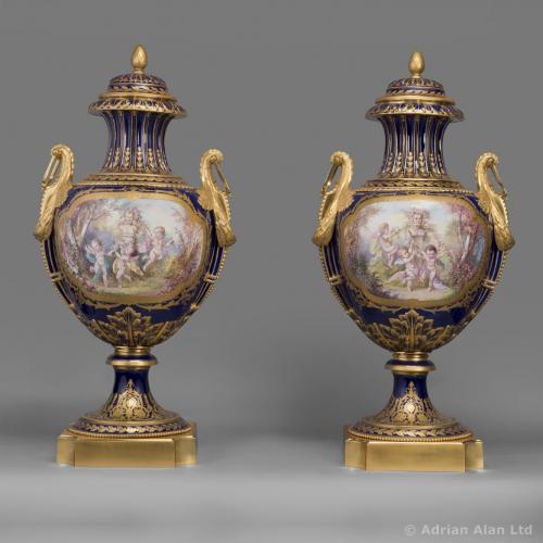 Sevres Style Vases ©AdrianAlanLtd