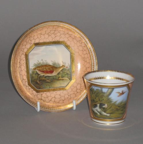 CHAMBERLAINS WORCESTER CUP & SAUCER, CIRCA 1814-16