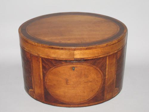 RARE SATINWOOD DECANTER BOX WITH ORIGINAL GLASS DECANTERS. CIRCA 1780