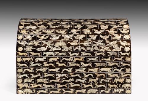 532a Renaissance Ivory Inlaid Casket