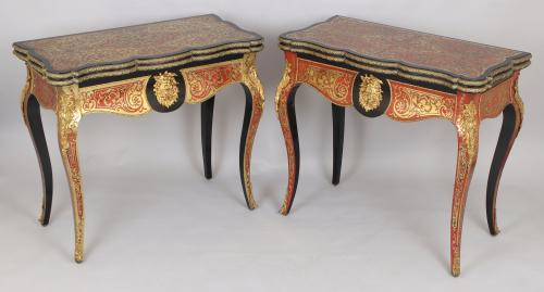 Boulle card-tables