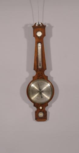 S/1429 Mid 19th Century Mahogany Wheel Barometer